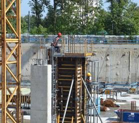 Segurança garantida na concretagem de pilares