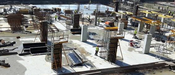 Sistema rentável e seguro para a construção de pilares