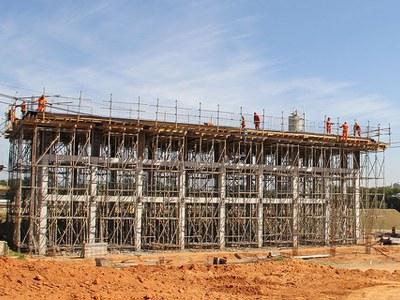 Soluções Fôrmas e Escoramentos na ampliação da estação de tratamento ETE Pitico